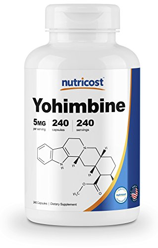 Nutricost Yohimbine HCl 5mg, 240 Capsules Extra Strength