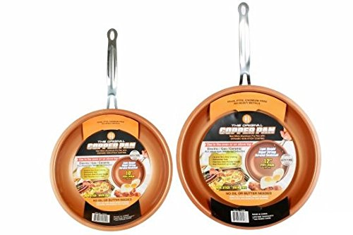 Original-Copper-Pan-10-inch-and-12-inch-Round-Pans-Set-of-2