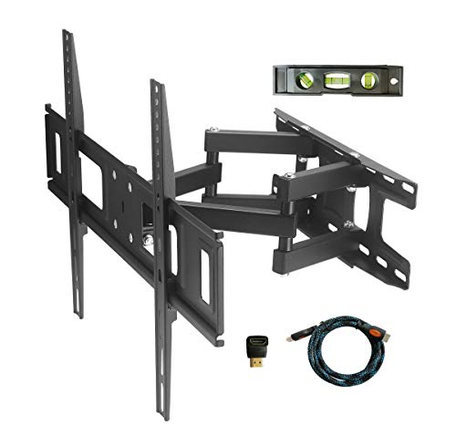 TV Wall Mount Bracket for Most 37 42 45 47 55 60 65 70 inch LCD LED TVs,with Full Motion Dual Swivel Tilt Articulating Arm, up to VESA 600X400 and 110lbs, Mounts to Two 16' Studs