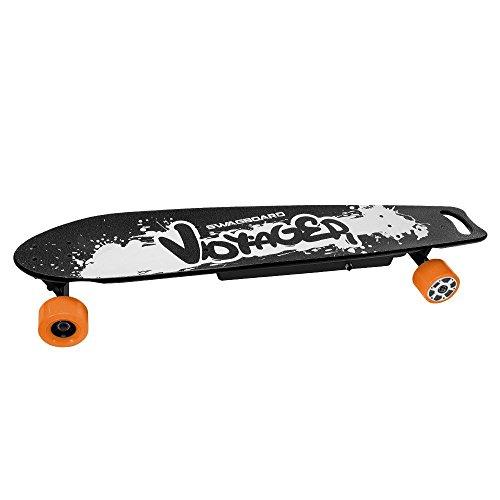 SWAGTRON SwagBoard Voyager Electric Longboard – Motorized skateboard w/ Remote & Dual 350W Motorized Wheels; Holds 330Lbs