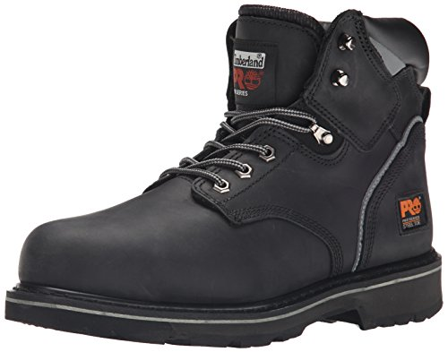 Timberland PRO Men's Pitboss 6' Steel-Toe Boot, Black , 12 D - Medium