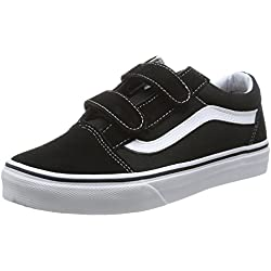 Vans Kids Old Skool V Black/True White Skate Shoe