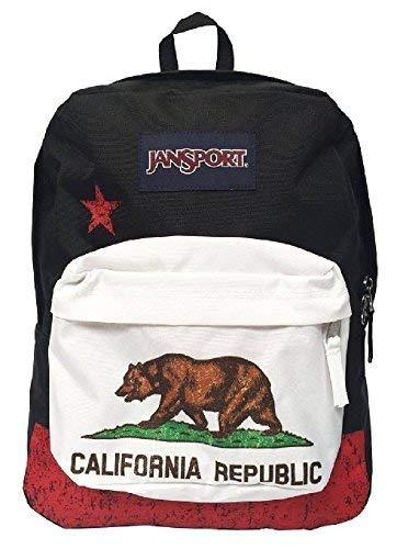 Classic Jansport Superbreak Backpack (Red New California Republic (T50109P))