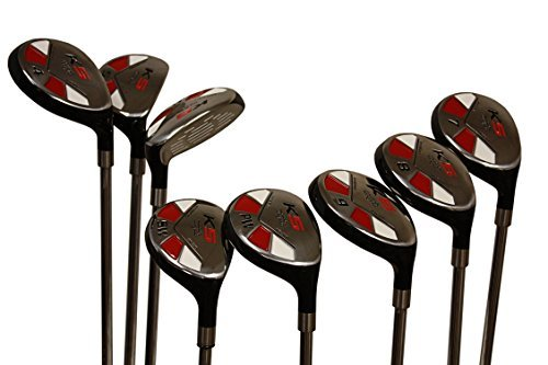 """Senior Men's Majek Golf All Hybrid Complete Full Set, which Includes: #3, 4, 5, 6, 7, 8, 9, PW Senior Flex Total of 8 Right Handed New Utility """"A"""" Flex Clubs"""