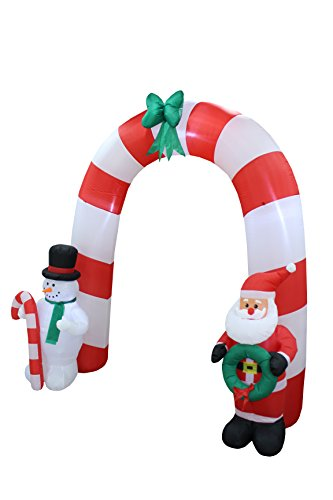 8 Foot Tall Lighted Christmas Inflatable Archway Arch With