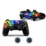 Sololife Paint PS4 Controller Skin with Two Silicone Thumb Grip Caps for Sony Playstation 4 DualShock Wireless Controller
