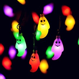 Azakoo Christmas String Lights 30 LEDs for Halloween Easter Lights Christmas Patio Lawn Garden Party and Holiday Decorations Themed Lights Waterproof Battery Powered 30 LEDs 18ft (Multicolor)