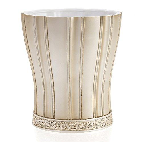 Creative Scents Victoria Bathroom Trash Can (8.5' x 8.5' x 9.25') - Decorative Wastebasket- Durable Resin Waste Paper Baskets- Space Friendly Bath Rubbish Dust Bin- for Elegant Shower Decor