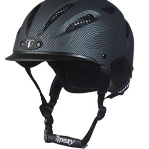 Tipperary Sportage Western Riding Helmet Low Profile Horse Safety Carbon Grey