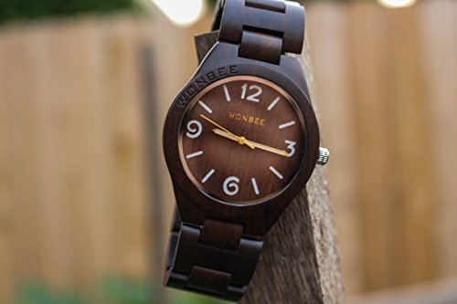 amexi brown zebra watch wooden handmade men dp calendar with s bracelet color watches