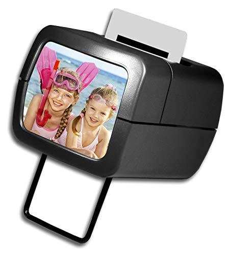 AP Photo Illuminated Slide Viewer - Battery Operated & Pressure Activated Transparency Viewer for 2x2 & 35mm Photographs, Film, Pictures - Tabletop & Handheld Portable Device