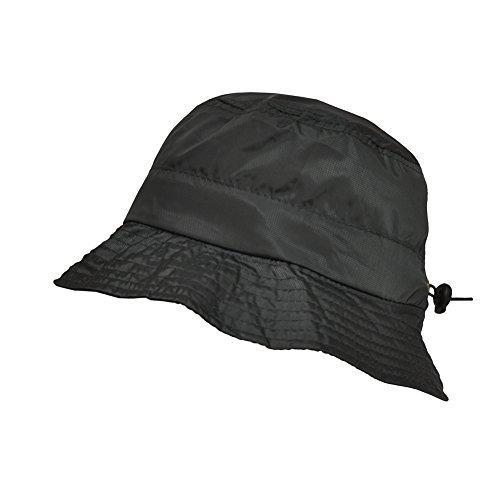 TOUTACOO, Adjustable Waterproof Bucket Rain Hat in Nylon, Easy to fold Grey Army
