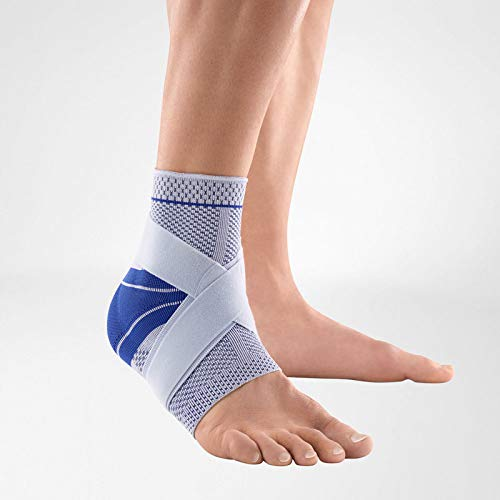 Bauerfeind - MalleoTrain Plus - Ankle Support - Extra Stability for The Ankle Joints and Tendons - Left Foot - Size 4 - Color Titanium