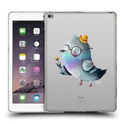 Official Oilikki Pigeon Animal Characters Soft Gel Case Compatible for iPad Air 2 (2014)