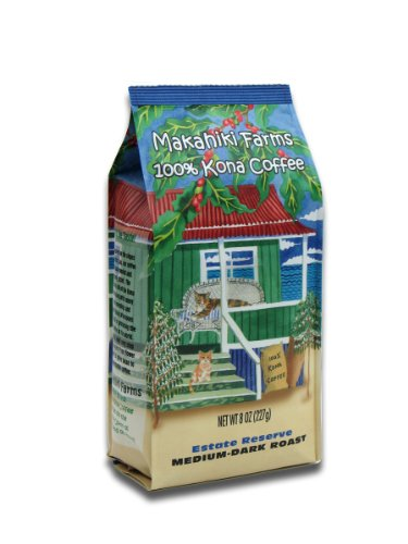 100% Kona Coffee - Estate Reserve, Whole Bean, 8-ounce