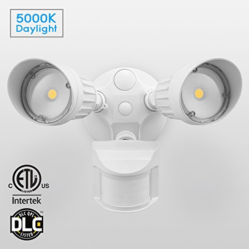 20W Dual-Head Motion-Activated LED Outdoor Security Light