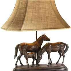 Hand Painted Horse Lamp
