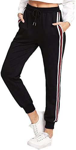 SweatyRocks Women's Drawstring Waist Athletic Sweatpants Jogger Pants with Pocket 1