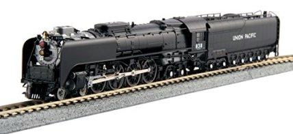 Kato-USA-Model-Train-Products-Union-Pacific-FEF-3-Steam-Locomotive-Freight-Version-838-Train