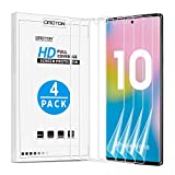 [4 Pack] OMOTON Screen Protector for Samsung Galaxy Note 10 - Flexible High Definition TPU Film for Samsung Galaxy Note 10 2019 Released [6.3 Inch]