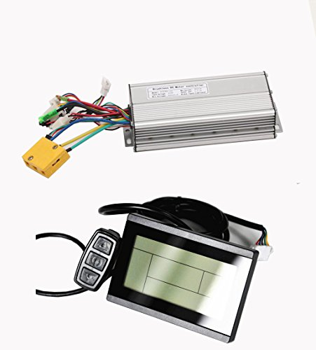 Pet Time Ebike 36V/48V 1000W Brushless DC Sine Wave Ebike Controller Silver Color With Regenerative Function For Electric Bike or LCD 3 Display for Ebike