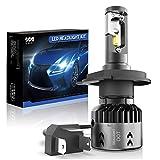 H4/9003 LED Motorcycle Headlight Bulbs SEALIGHT HB2 Hi/Lo Beam LED Headlamp with Fan 6000K Xenon White-2 Year Warranty(1 Pack)