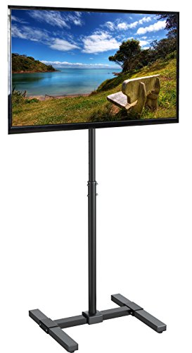 VIVO TV Display Portable 13' to 42' Floor Stand | Height Adjustable Mount for Flat Panel LED LCD Plasma Screen (STAND-TV07)