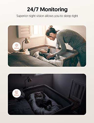 Teckin Cam 1080P FHD Indoor Wi-Fi Smart Home Security Camera with Night Vision, 2-Way Audio, Motion Detection, Omnidirection for Baby/Pet/Nanny/Elderly, Works with Alexa & Google Home, 2 Packs 14