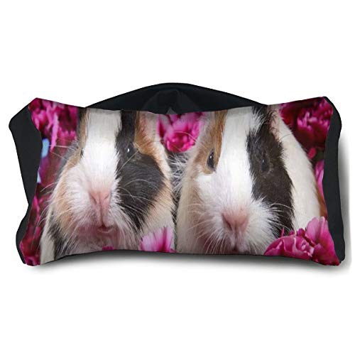 Eye Pillow Pink Flowers Cuties Animal Guinea Pig Fantastic Womens Portable Blindfold Sleeping Eye Bag Patch