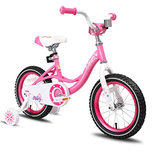 JOYSTAR 14 Inch Kids Bike with Training Wheels for 3 4 5 Years Old Girls, Pink