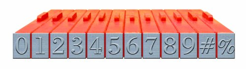 Mason Row XL-58021 12-Piece Numbers Clickable Bodoni Font Stamp Set