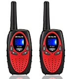 Retevis RT628 Kids Walkie Talkies 22 Channel FRS 2 Way Radios Toy for Kids (Red,1 Pair)