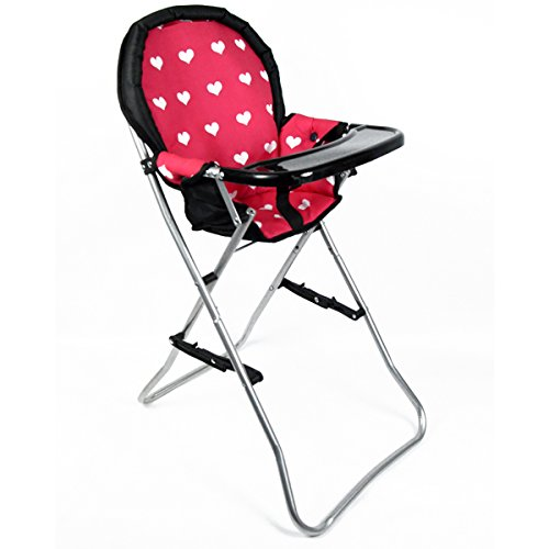 The New York Doll Collection A166 18' Doll High Chair, Pink