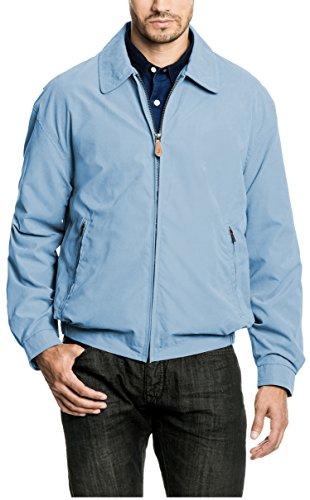 London Fog Men's Auburn Zip-Front Golf Jacket (Regular & Big-Tall Sizes), Cornflower Blue, Large