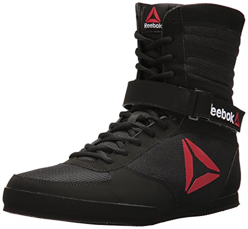 Reebok Men's Boot Boxing Shoe, Buck-Delta Black/White, 9 M US