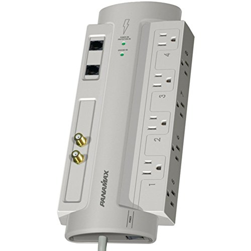 Panamax SP8-AV 8-Outlet SurgeProtector 8 W/Coaxial & Telephone Protection Electronics Computers Accessories