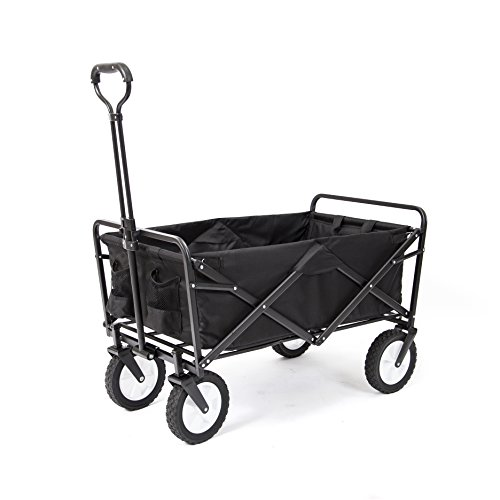 Mac Sports Collapsible Folding Outdoor Utility Wagon, Black