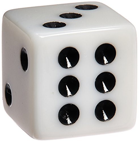 100 White Dice - 16mm by Marion