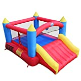 ACTION AIR [Updated Version] Bounce House, Inflatable Bouncer with Air Blower, Jumping Castle with Slide, Family Backyard Bouncer, Durable Sewn with Extra Thick Material, Idea for Kids (C-9745)