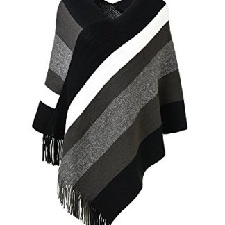 PULI Women's Versatile Knitted Scarf with Buttons Shawl