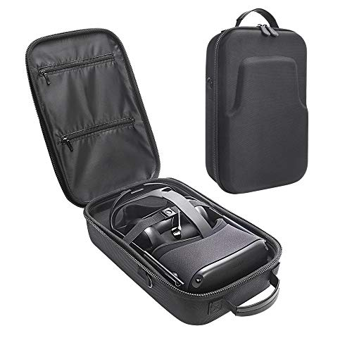 Esimen Fashion Travel Case for Oculus Quest VR Gaming Headset and Controllers Accessories Carrying Bag (Black)