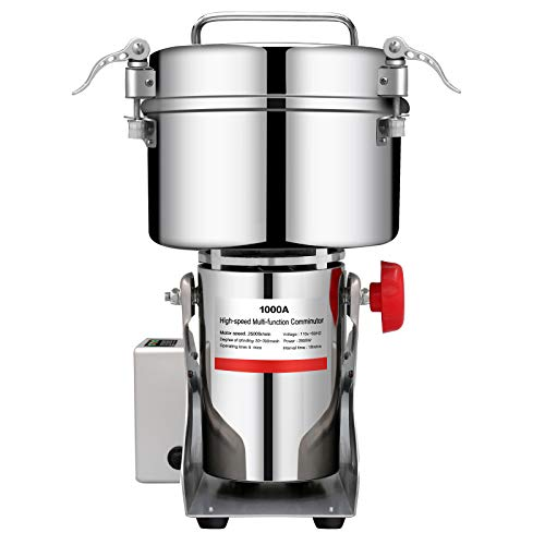 BI-DTOOL-1000g-Electric-Grain-Mill-Grinder-304-Stainless-Steel-Pulverizer-Grinding-Machine-Commercial-Corn-Mill-for-Kitchen-Herb-Spice-Pepper-Coffee-with-LCD-Digital-Display