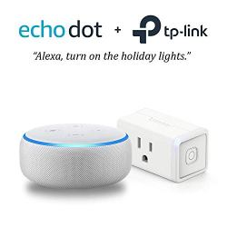 Echo Dot (3rd Gen) - Sandstone with TP-Link Smart Plug Mini