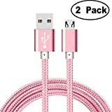 [2-Pack]Cable for Amazon Kindle Replacement Micro USB Cable,iBarbe Sync Charger for Fire Tablet Alexa,Paperwhite,Oasis,Fire Kids Edition,HD Kids Edition,TV Stick,New Fire TV Pendant,Echo Dot-rosegold