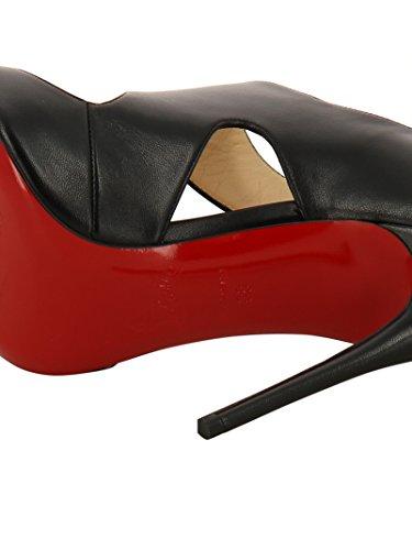 reputable site ac544 4c330 Christian Louboutin Women's 3170404BK01 Black Leather Heels