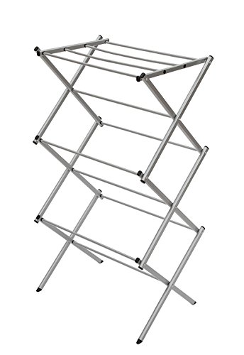 StorageManiac 3-tier Folding Water-Resistant Steel Clothes Drying Rack - 22.44x14.57x41.34 - Inches