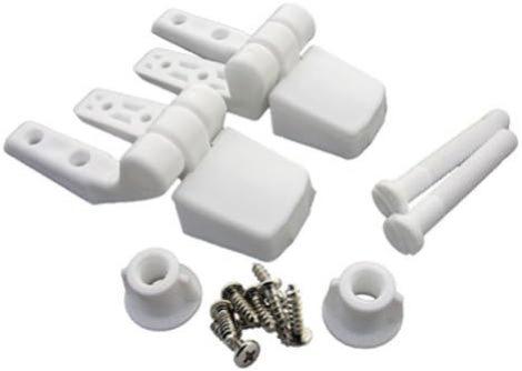 1039 White Plastic Toilet Seat Hinge