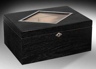 Beautiful Dublin Desktop Glasstop Cigar Humidor