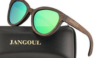 6e2a4a990f Polarized Sunglasses Bamboo Skateboard Wood Frame For Women with UV400 Lens  JANGOUL