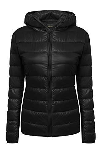 Yidarton Women's Lightweight Packable Hooded Coat Outwear Puffer Down Jacket